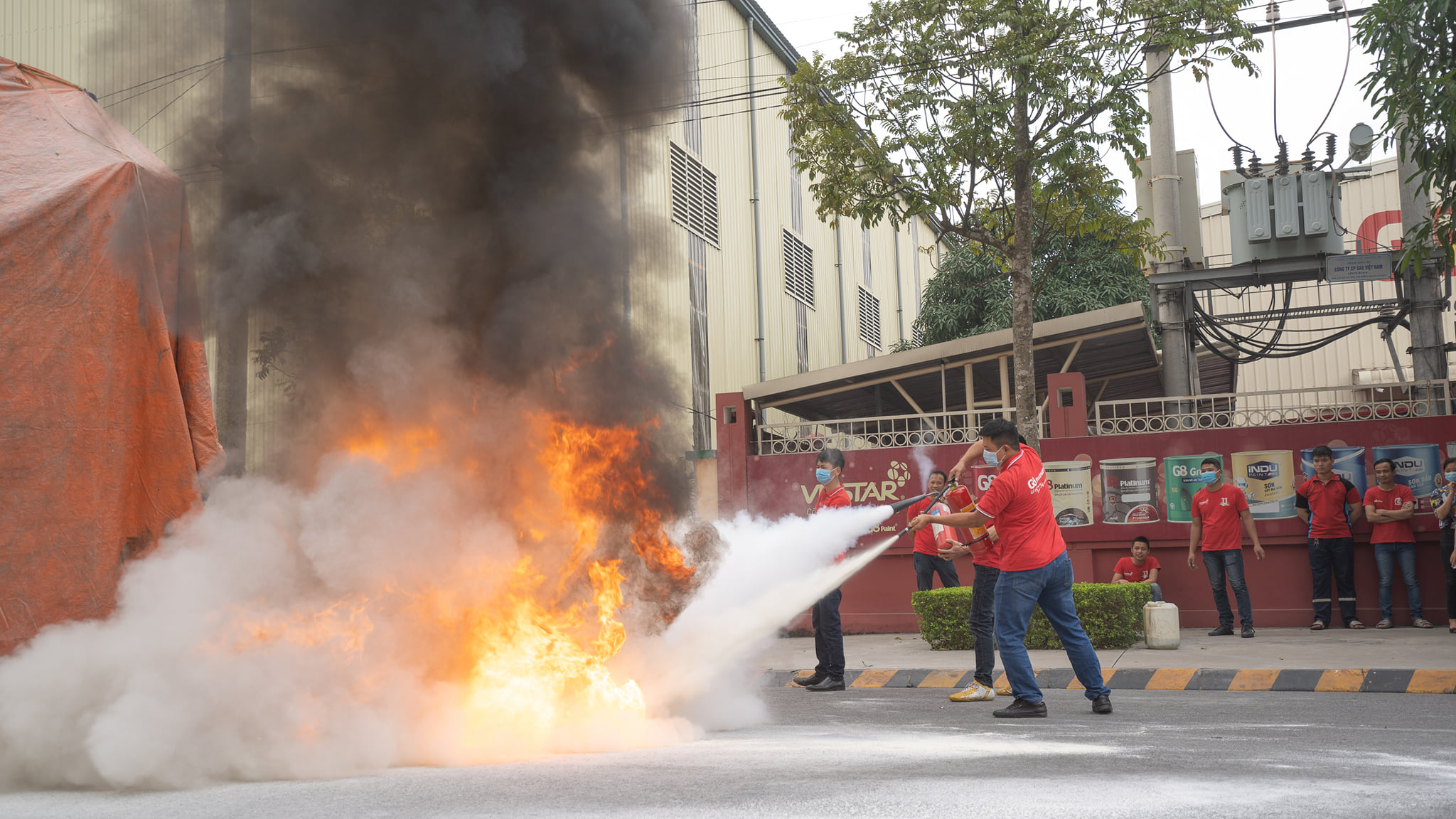 VNSTAR ORGANIZED FIRE PREVENTION AND FIGHTING TRAINING IN 2020