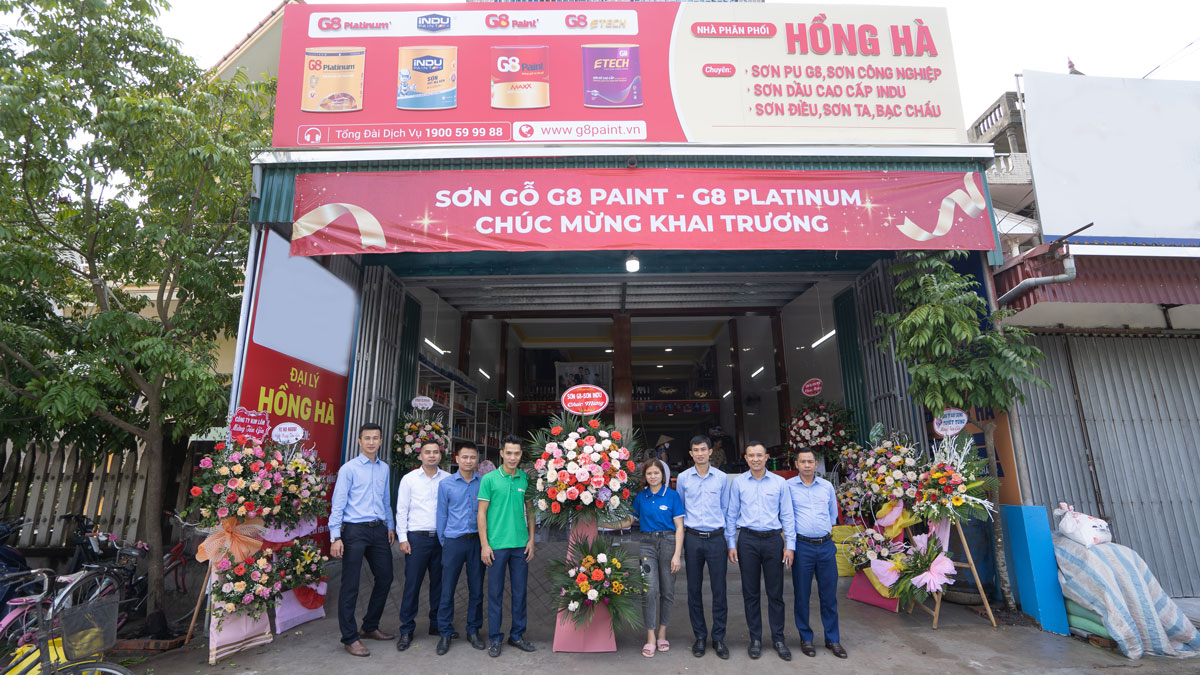 LAUNCHING A MODEL BOOTH FOR DISTRIBUTOR HONG HA